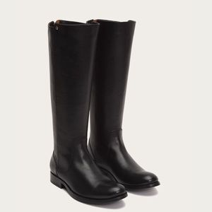 NEW FRYE Melissa Stud Back Zip Riding Leather Boot